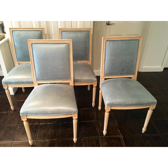 Louis Style Square Back Dining Chairs - Set of 4 - Image 7 of 7