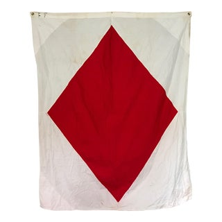 Vintage Nautical Flag F