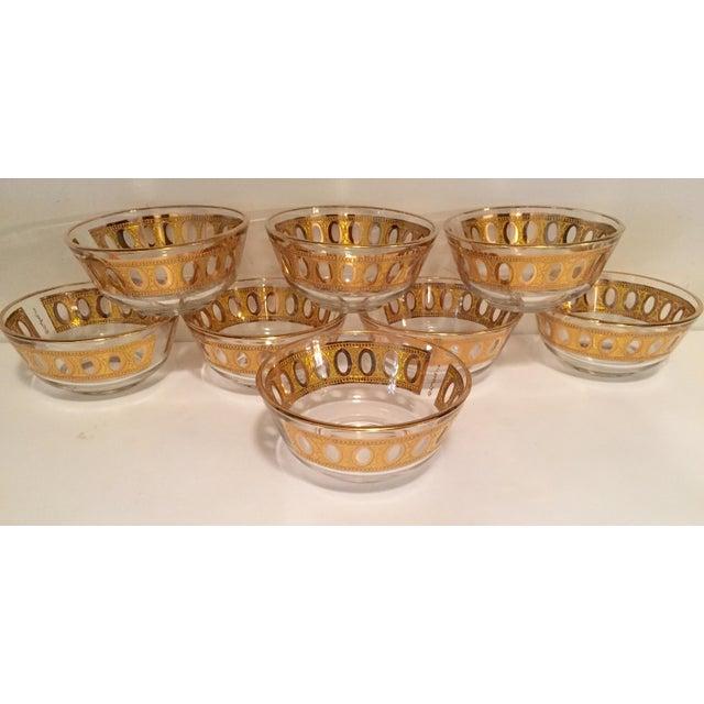Culver Antigua 22k Gold Dessert Bowls - Set of 8 - Image 2 of 9