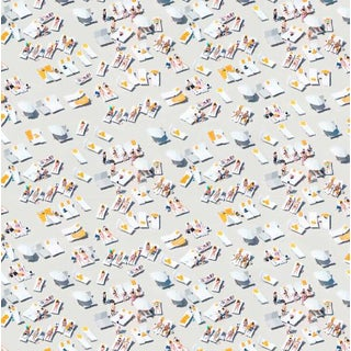 Mitchell Black Home Gray Malin Sunbathers Prepasted Wallpaper For Sale