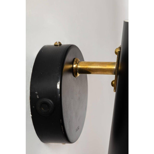 Large Paavo Tynell Black Wall Lights for Taito Oy - a Pair For Sale - Image 9 of 11