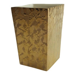 Mid-Century Modern Weeping Gold Vase For Sale