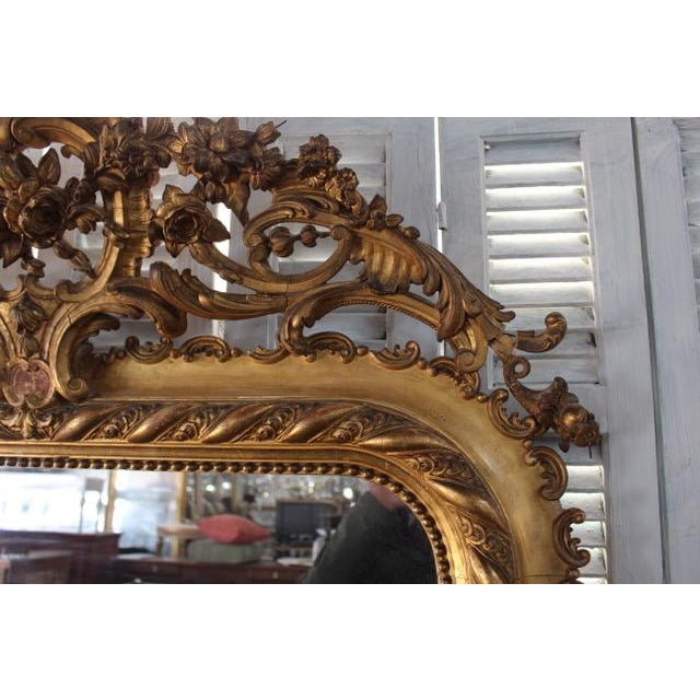 18th Century Antique French Louis Philippe Mirror For Sale - Image 4 of 8