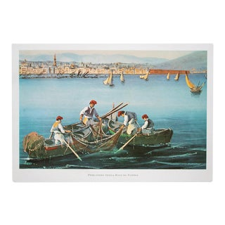 """1964 """"Fishermen in the Bay of Naples"""", Original Lithograph For Sale"""