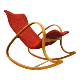 Atomic Rocking Chair by Gustaf Axel Berg For Sale