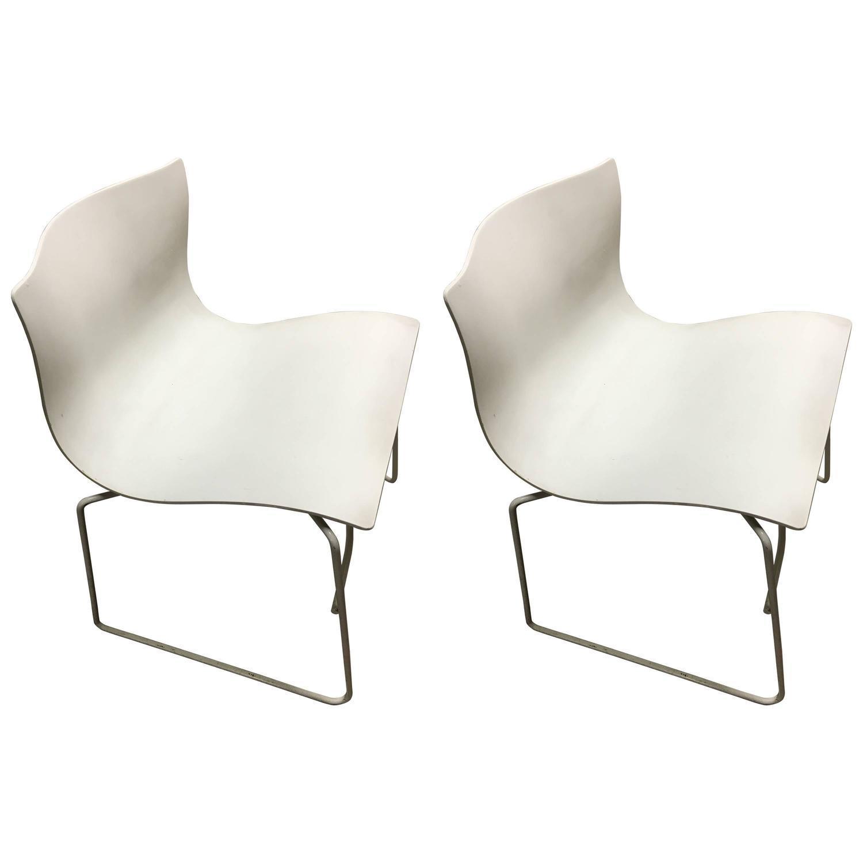 Knoll Vintage Handkerchief Chairs   A Pair