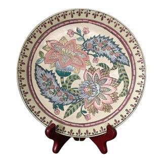 Late 20th Century Chinese Ceramic Toyo Tobacco Leaf Decorative Plate For Sale
