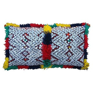 Green & Orange Moroccan Pillow