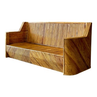 Vintage Bamboo Sofa For Sale