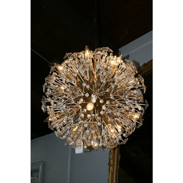 Here is a glam ceiling light by Kate Spade for Visual Comfort. This 'Dickinson' medium pendant features soft brass, clear...