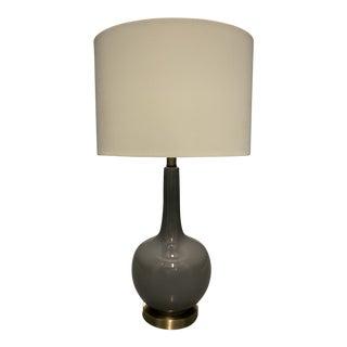 """At Home"" Dark Gray Ceramic Lamp For Sale"