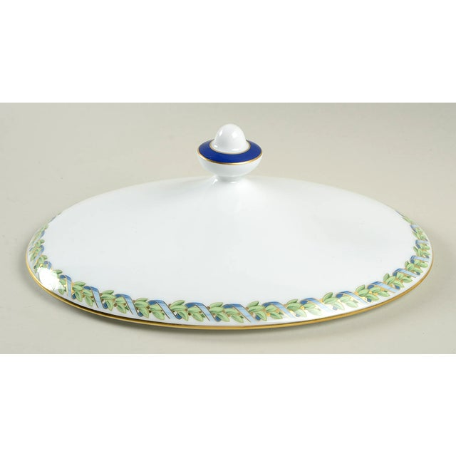 Late 20th Century Tiffany Federal Oval Covered Server For Sale - Image 5 of 8
