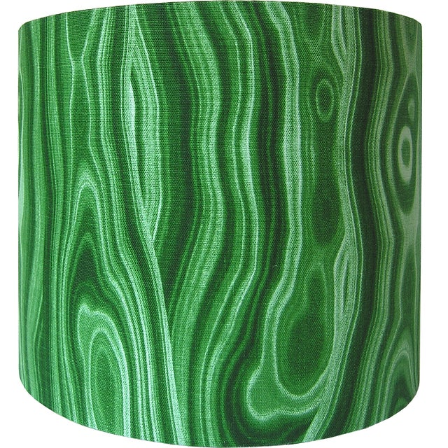 Made to Order Malachite Green Large Drum Shade - Image 2 of 4