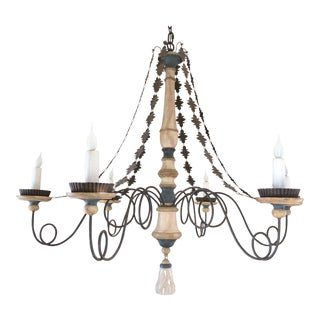 2000s Boho Chic Industrial Sorrento Iron Chandelier