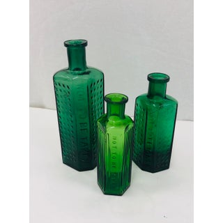 Set Antique Green Glass Poison Jars Preview