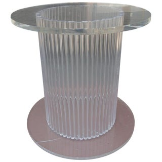 Column Style Lucite Center Table by Ritts Furniture Company For Sale
