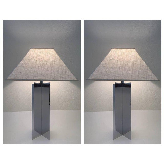 Polished Aluminium Table Lamps by Paul Mayen for Habitat - A Pair For Sale - Image 10 of 10