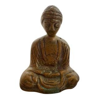 Antique Bronze Pocket Sized Buddha Sculpture