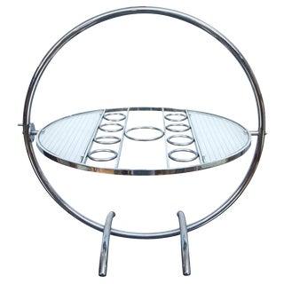 Chrome Art Deco Gyroscopic Tilt-Top Cocktail Table For Sale