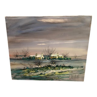 """Winter Landscape"" Painting by Gerard Gouvrant For Sale"