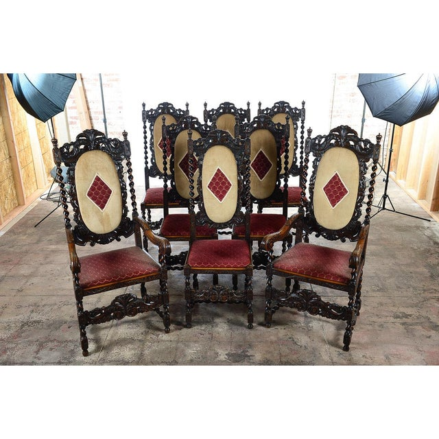 English Renaissance Dining Chairs - Set of 12 - Image 2 of 11
