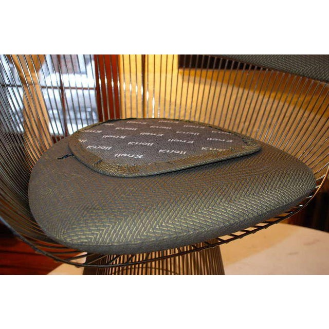 Metal Warren Platner Arabesque Marble Dining Table with Four Chairs For Sale - Image 7 of 10