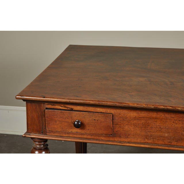 Wood French Colonial Single-Piece Rosewood Top Desk For Sale - Image 7 of 13