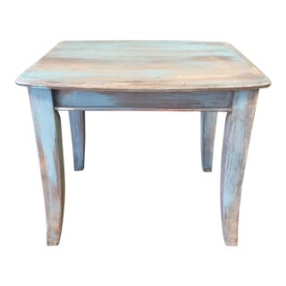 Mid-Century Upcycled & Distressed Side Table