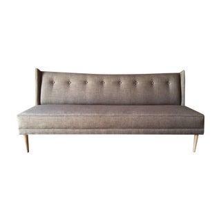 Mid Century Style Custom Grey Brown Sofa