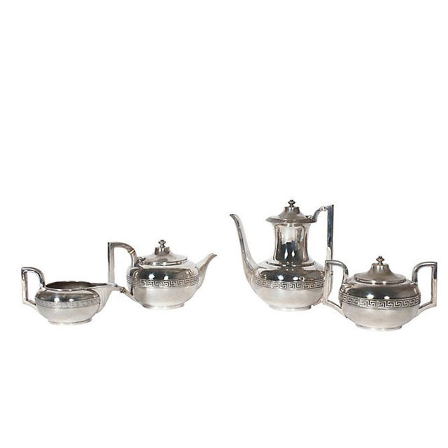 Metal Four-Piece Gorham Silver-Plated Tea and Coffee Set From the 1920s For Sale - Image 7 of 7