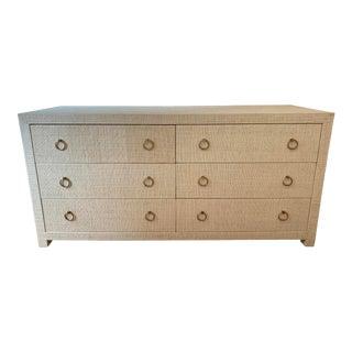 Serena & Lily Blake Raffia Wide Dresser For Sale