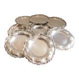 Image of Horacio De La Parra Mexican Sterling 925 Bread/Dessert Plates - Set of 8 For Sale