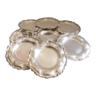 Horacio De La Parra Mexican Sterling 925 Bread/Dessert Plates - Set of 8 For Sale