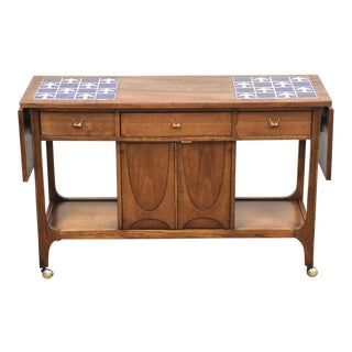 Broyhill Brasilia Walnut Barcart For Sale