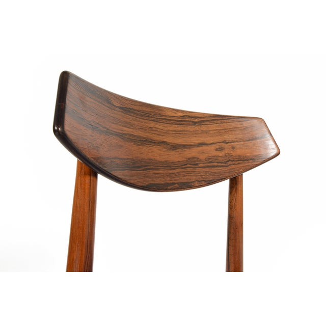 Danish Modern Rosewood Dining Chairs - Set of 4 - Image 9 of 11