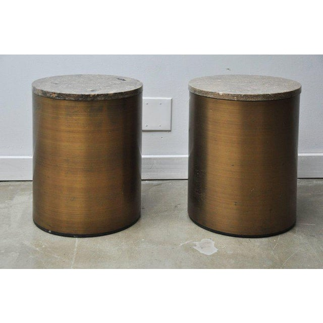Gold Paul Mayen Storage Side Tables For Sale - Image 8 of 8