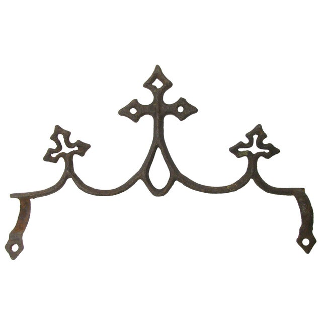 French Fleur de Lys Iron Elements - Set of 3 - Image 3 of 4