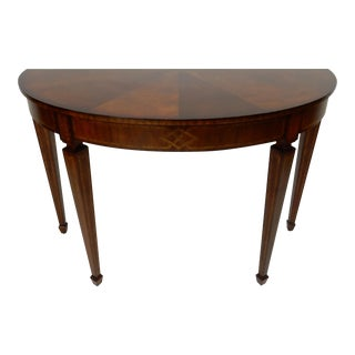Maitland Smith Inlaid Mahogany Console Table For Sale