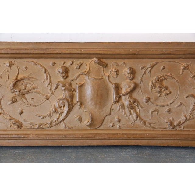 Italian rococo terracotta frieze in superb condition from the mid-18th century.