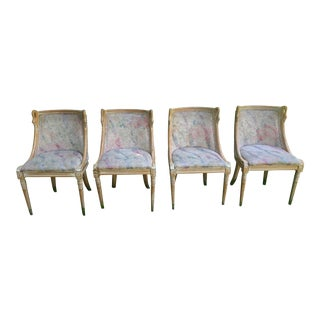 Vintage MidCentury Modern SwanHead Dining Chairs - Set of 4 For Sale
