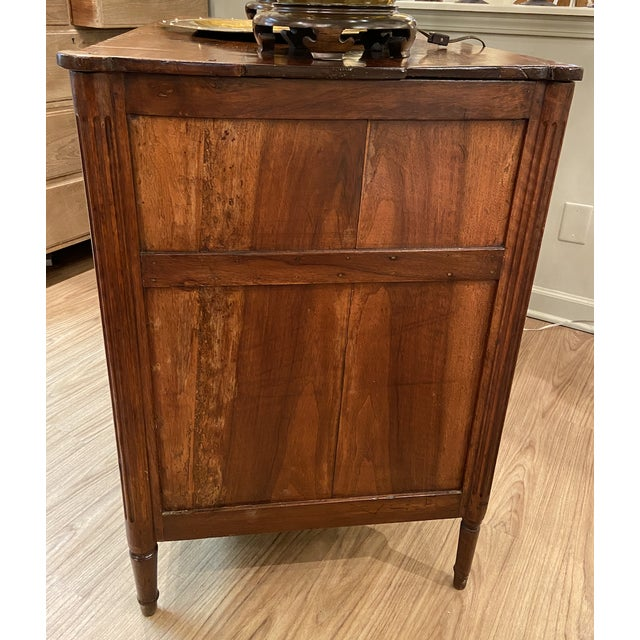 Brown 19th Century French Walnut Five Drawer Commode For Sale - Image 8 of 11