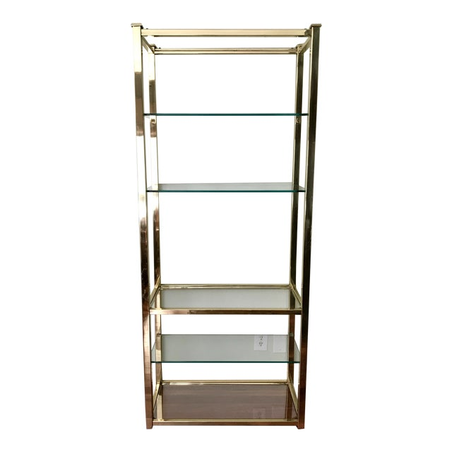 Vintage Brass & Glass Etagere - Image 1 of 5