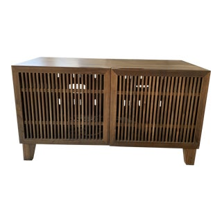 Crate & Barrell Marin Shiitake Media Console For Sale