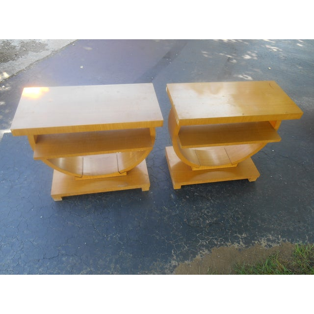 Art Deco Brown-Saltman End Tables - A Pair - Image 3 of 5