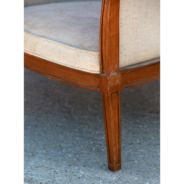 1930s Art Deco Barrel Back Club Chair For Sale - Image 5 of 7