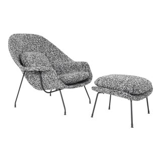 Eero Saarinen for Knoll Womb Chair and Ottoman For Sale