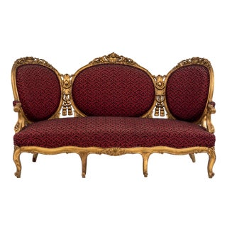 French Victorian Rope and Tassel Settee For Sale