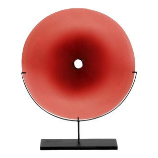 SkLO Pool Glass Object Large - Red For Sale