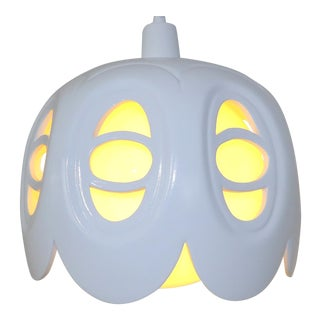 Mid-Century Modern Ceramic Porcelain Swag Lamp