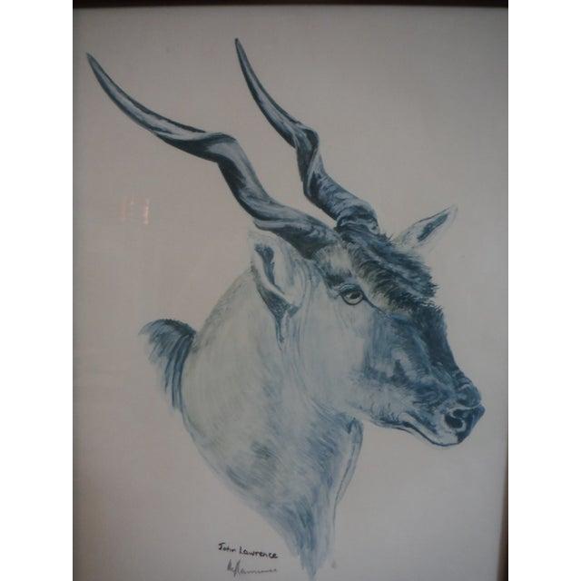 """""""Savannah Animal's"""" Pen & Ink Drawings - A Pair - Image 5 of 10"""